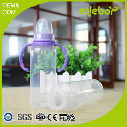 2016 new product 240ML straight standard neck PP feeding bottle baby wholesale