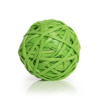 50MM Green Color Rubber Band Ball Wholesale