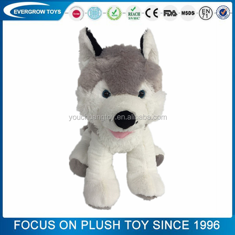 2016 new soft husky dog custom <strong>plush</strong> toy no minimum