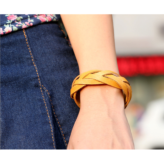 Fashion Handmade Real Leather Wristbands leather Bracelet