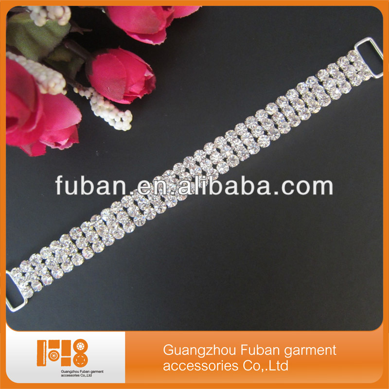 wholesale crystal diamante connectors bikinis for garment decoration for hair accessories