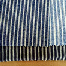 100% cotton blue white stripe denim fabric