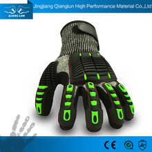 Heavy construction coating oil resistant miners gloves