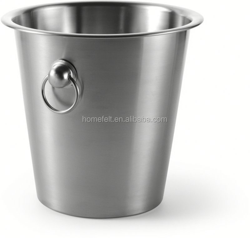 single bottles champagne bucket with handle