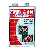 Home Paint Supper A-100 Clear gloss varnish materials For Stone 3 Kg/Gallon , 6 GallonPer Box