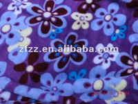 flower printed coral fleece fabric