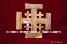 olive wood Tera santa cross/Bethlehem olive wood catholic cross/olive wood Latin cross