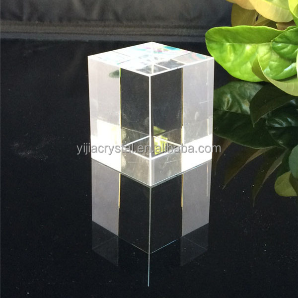 new products 2016 special price clear blank transparent crystal plaques/blocks/cubes