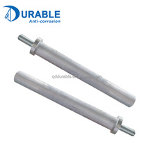Anti corrosion Aluminum zinc alloy anode rod bar for water heater spare parts price