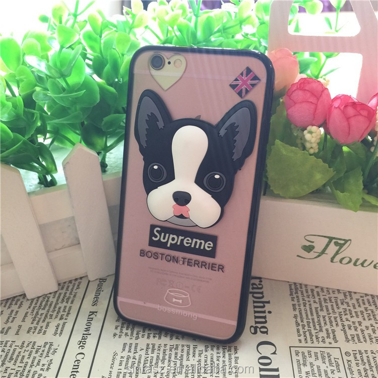 Rubber 3D Dog Cute Protective Mobile Silicone Cartoon Phone Back Cover Case
