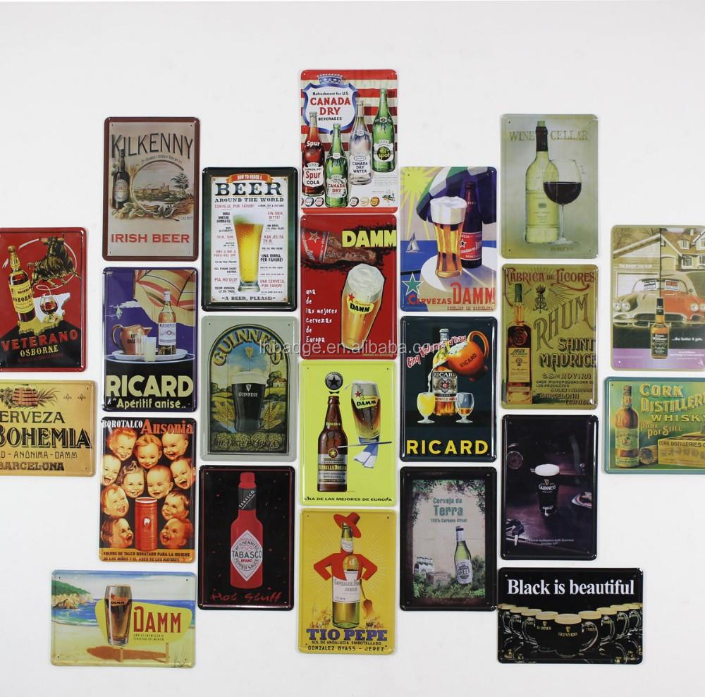 Home decoration vintage tin sign factory wholesale dog cat for Decoration murale retro