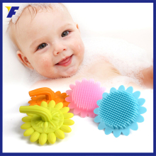 China export baby body cleansing brush, silicone bath brush for kids