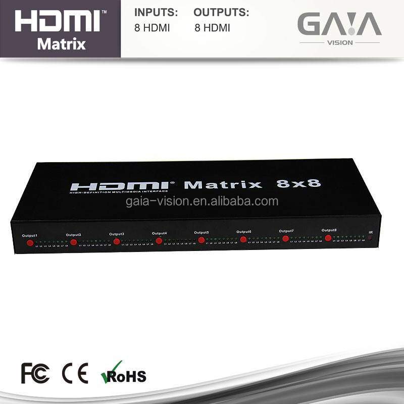 8x8 HDMI Matrix Switcher with 8 in 8 out HDMI Matrix 1080P