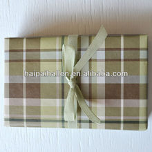 SAGE and BROWN PLAID kraft wrapping masculine gift wrap