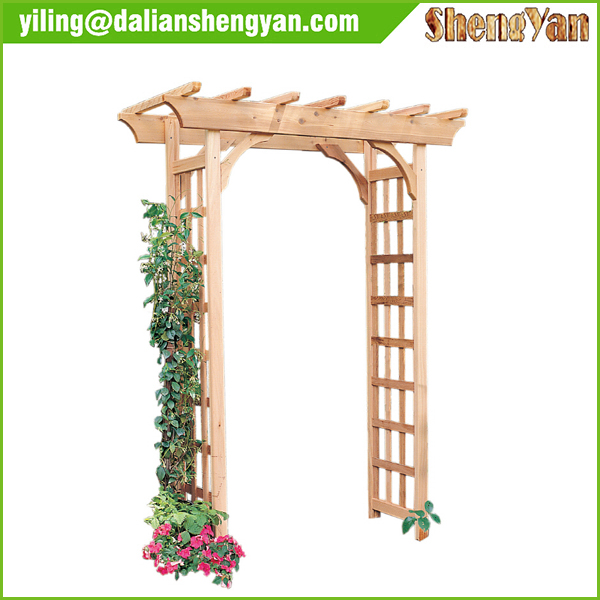 Outdoor decorative garden wooden arch buy garden wooden for Arche de jardin en bois