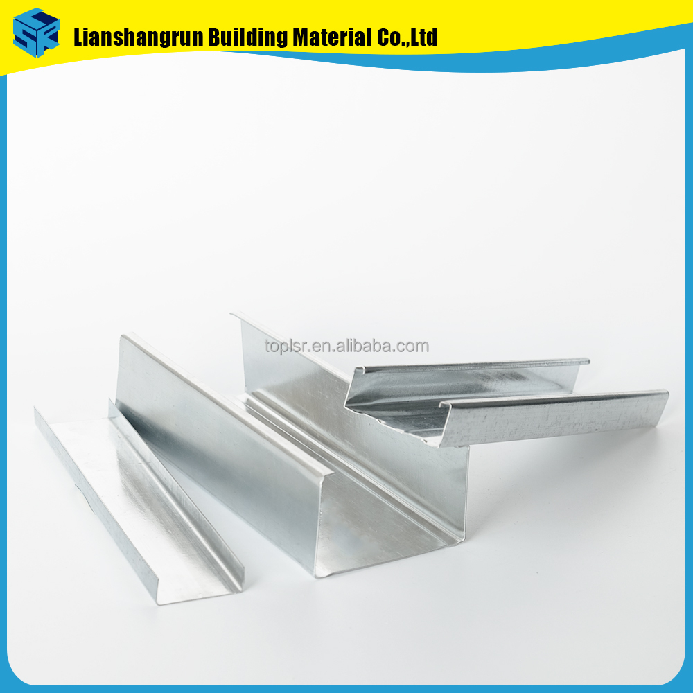 Suspended steel wall framing stud drywall c channel