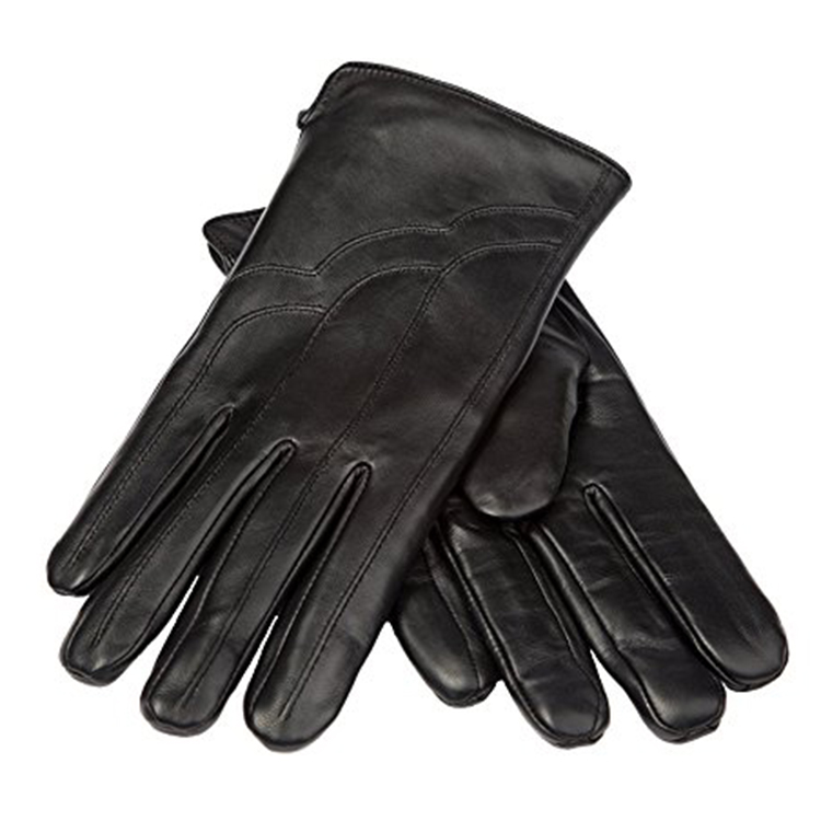 Wholesale custom fashion men cheap leather hand gloves