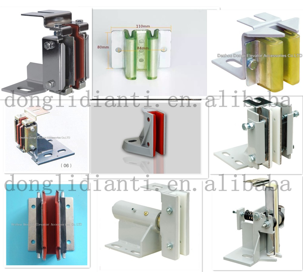 Elevator lift passenger parts with elevator wire rope guide rollers