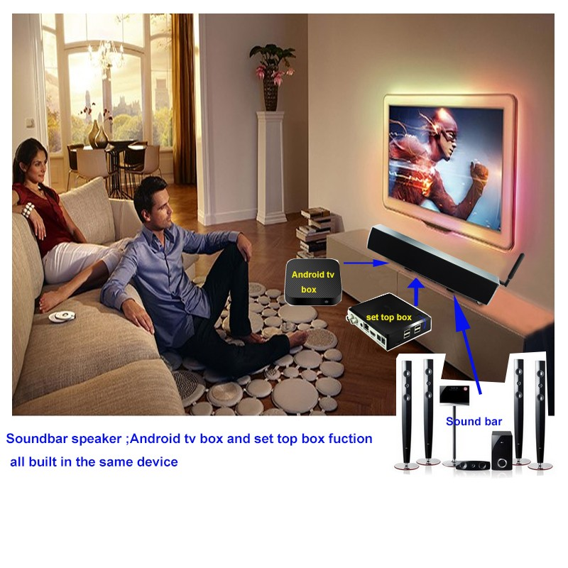 new products 2016!!! Android Home Theater System 3D Surround WIFI Bluetooth android TV BOX Soundbar