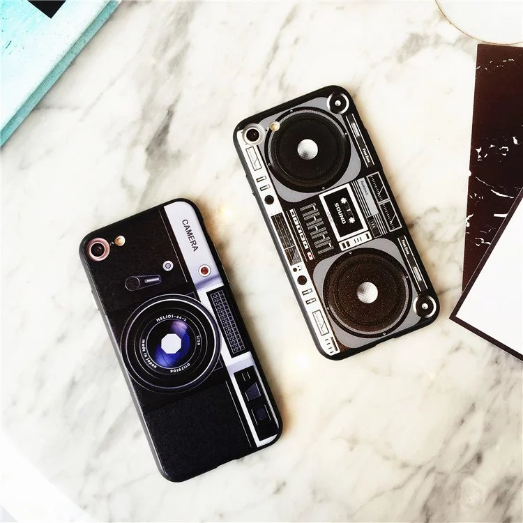 Fashion Camera Pattern Back Cover for iPhone 7 7Plus