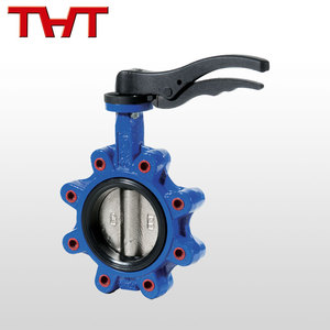Corrosion preventive manufacturers cast iron lug butterfly valve