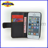 2013 New Products Made in China For iPhone 5C Leather Cases Wallet Case for iPhone 5C Laudtec