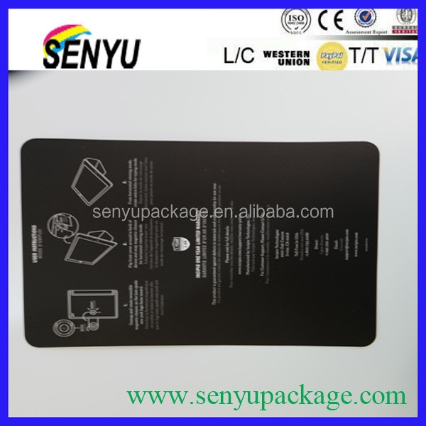 Customized made Paper iPad card Printing for sale