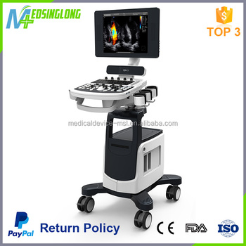 Medical digital full display mode color doppler ultrasound with trolley Qbit 5