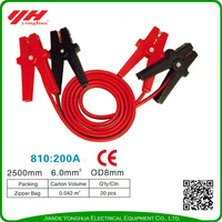 Reflective car emergency jump leads booster cables