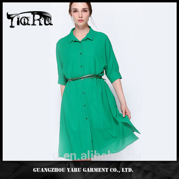 Ladies tops clothes made in turkey cotton thailand new style OEM guangzhou manufacturer women shirt casual long dress