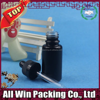 15ml black round essential Oil Bottles glass dropper bottle for cosmetic packaging with black childproof cap