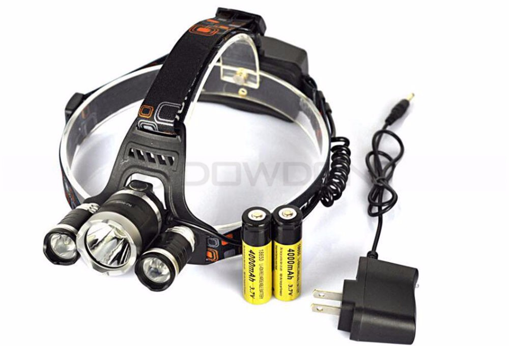 Ultra Bright Rechargeable Fishing LED Headlamp 3x XML T6 LED Headlight Super Bright Running Head Torch