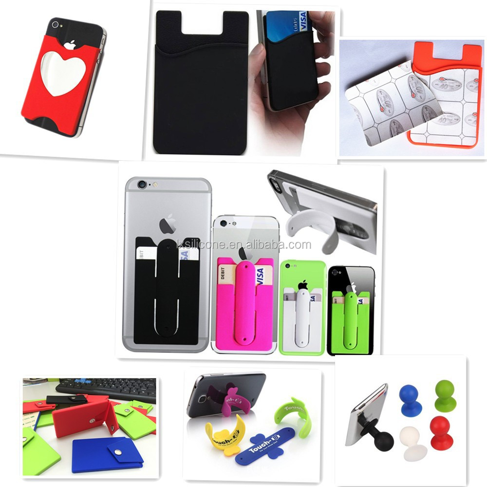 Custom logo  silicone swimming coat phone id  card holder wallet