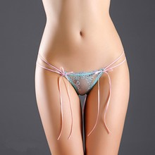 Elastic Transparent Women G String Sexy Underwear Fashion Lace Briefs Thongs Lingerie Hollow Panties