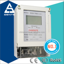 DDSY7666 single phase digital / LED display and LCD display pre-paid energy meter electric prepaid meter energy meter