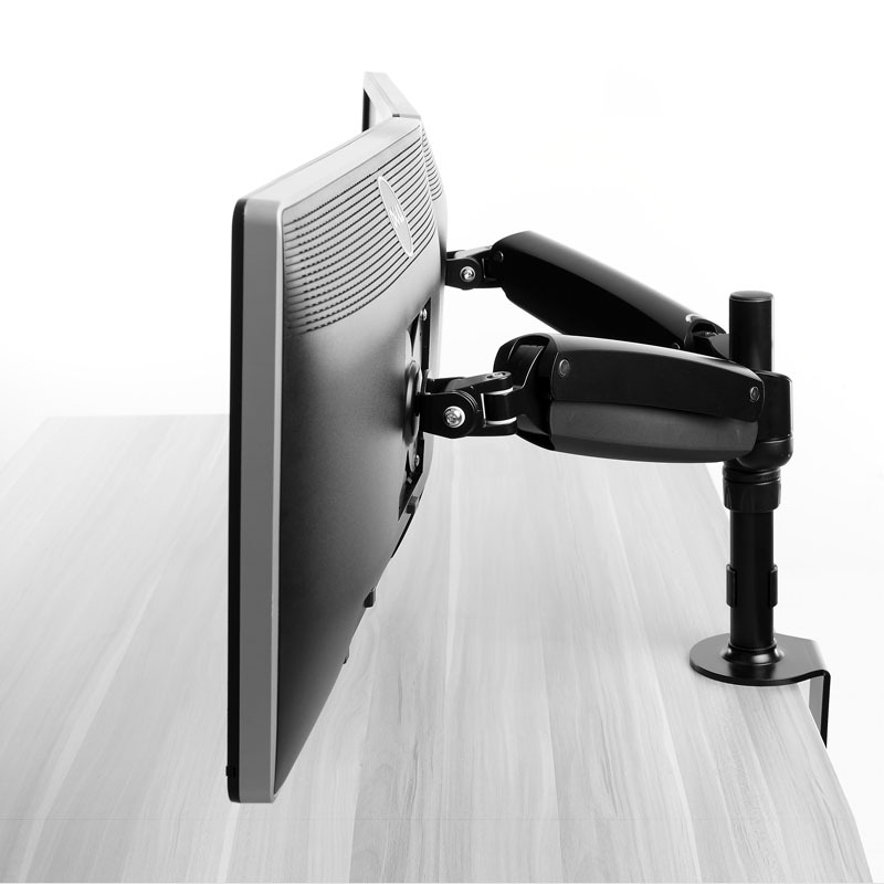 Accordion Articulated Arm : Articulating dual folding lcd monitor arm stand holds up
