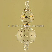 100 wholesale Clear Glass Christmas Ornaments