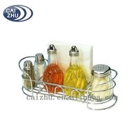 Kitchen Wire Table Condiment Caddy