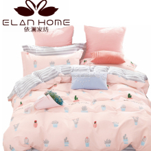 china supplier cotton wholesale adult pigment print duvet cover set/flat sheet/cushion/quilt/comforter set/pillowcase
