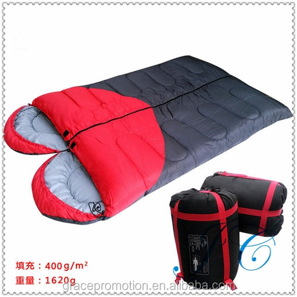 Custom Two Person Double Wide Sleeping Bag With Heart-shaped Graphics