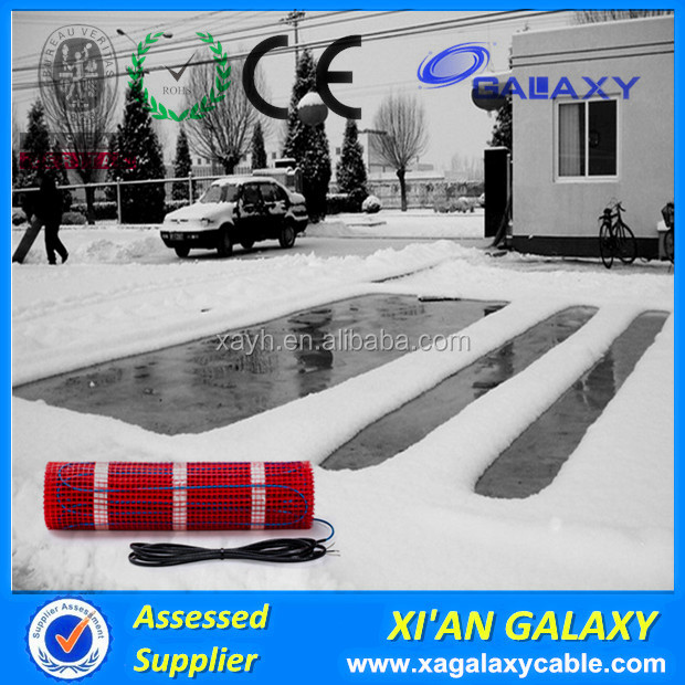 Driveway Defrost Ice/Snow Melting Floor Heating Mat/Twin Core Conductor Underground Electric Snow Melting Mats