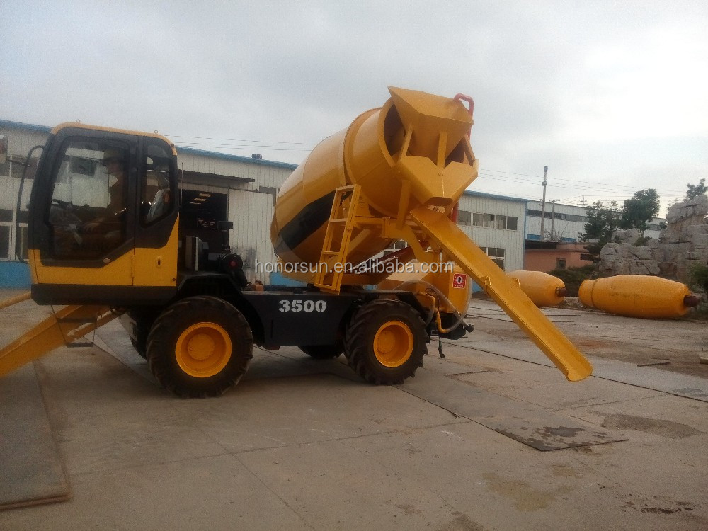 High quality self loading heavy duty ready mix concrete truck hot sale price