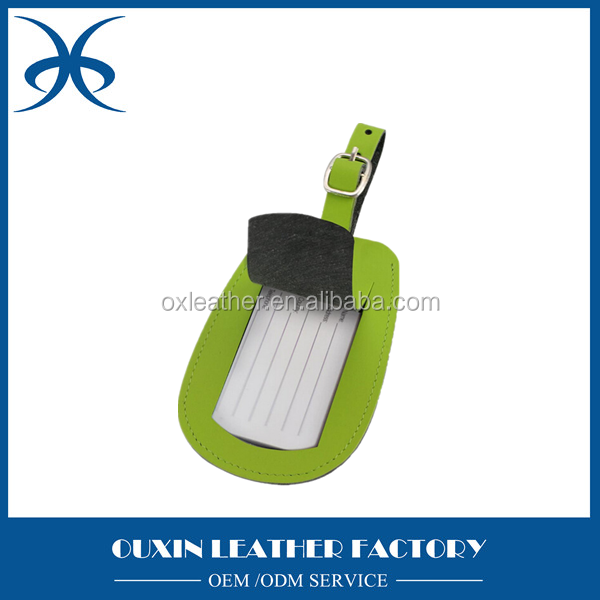 Genuine leather material luggage tag wholesale luggage accessories made in china mainland
