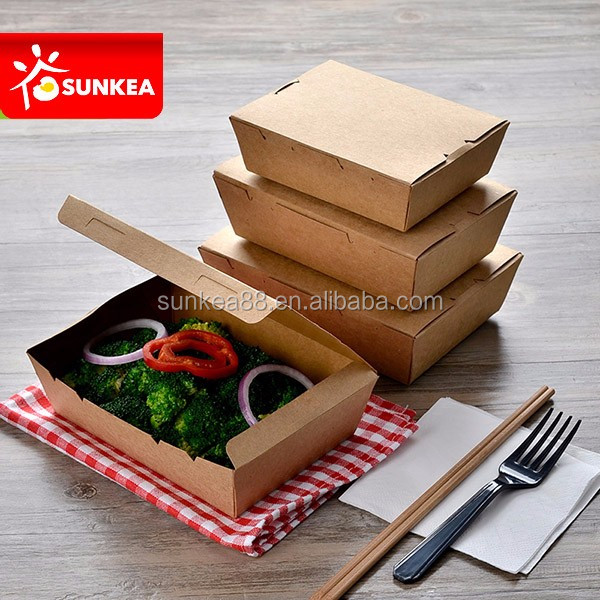 Disposable paper hot dog food packaging box