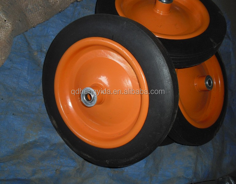 "Solid rubber wheel 13"" X 3"""
