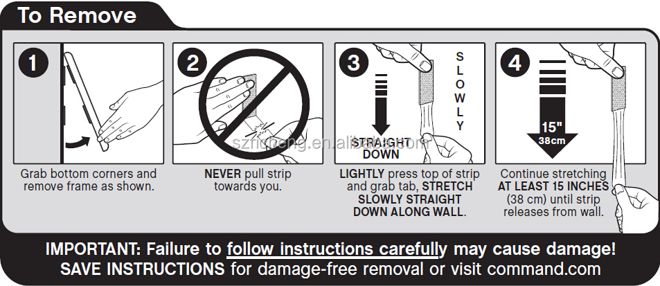 3m command damage free hanging instructions