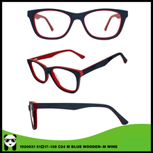 Newest promotional handmade acetate&wooden glasses for women