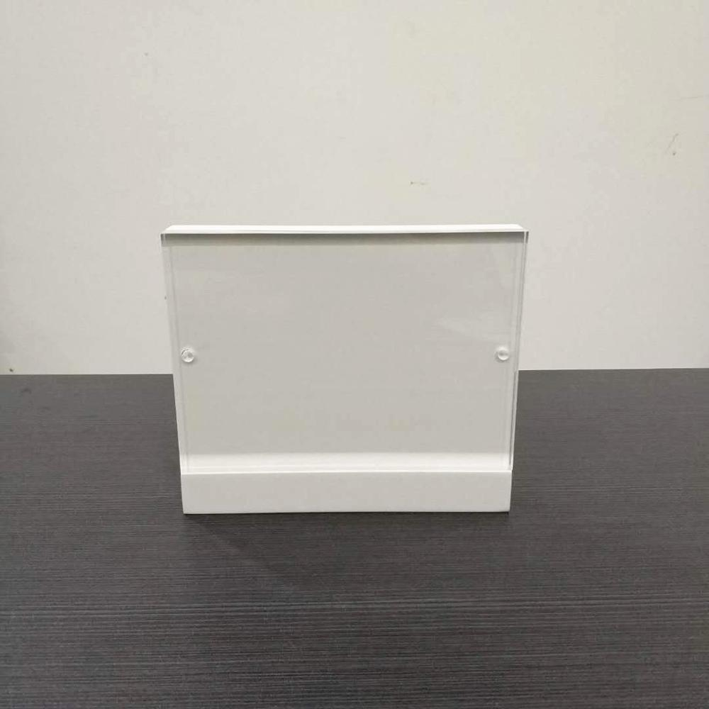 5x7 White elegant acrylic wooden magnetic photo frame acrylic picture frame