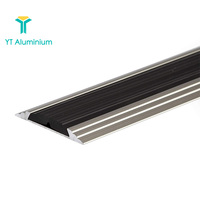 45mm Aluminium Floor Edge Bar Trim Covering Strip Flat Threshold to Carpet,Vinyl,Tile,Laminate