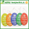 Free samples hanging paper leaf car air freshener